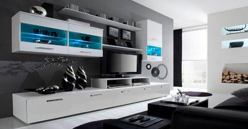 Meuble Salon Laqu Blanc Latest Comfort Home Innovation