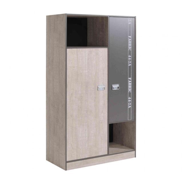 armoire 2 portes enfant en bois ar1026