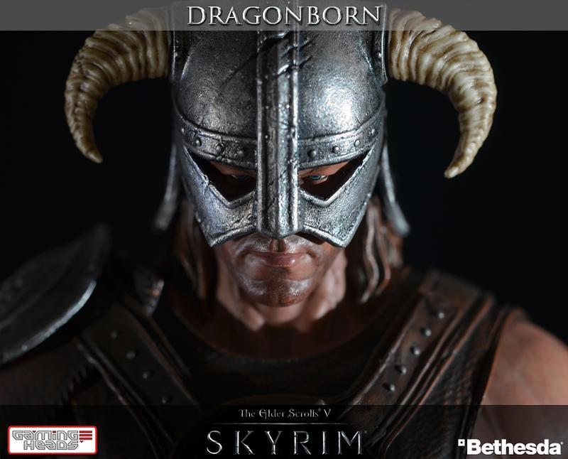 The Elder Scroll V Skyrim Dragonborn Collectible Statue