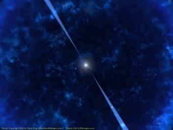Rappresentazione artistica di una pulsar