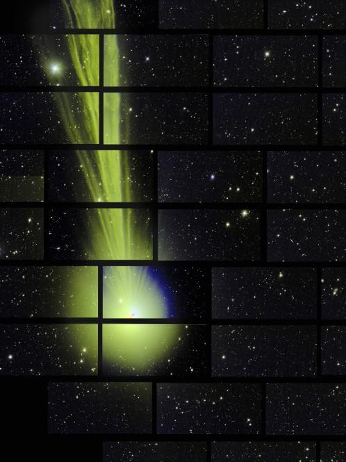 La cometa C/2014 Q2 Lovejoyripresa il 27 dicembre 2014 dalla Dark Energy Camera. Crediti: Fermilab - Marty Murphy, Nikolay Kuropatkin, Huan Lin e Brian Yanny