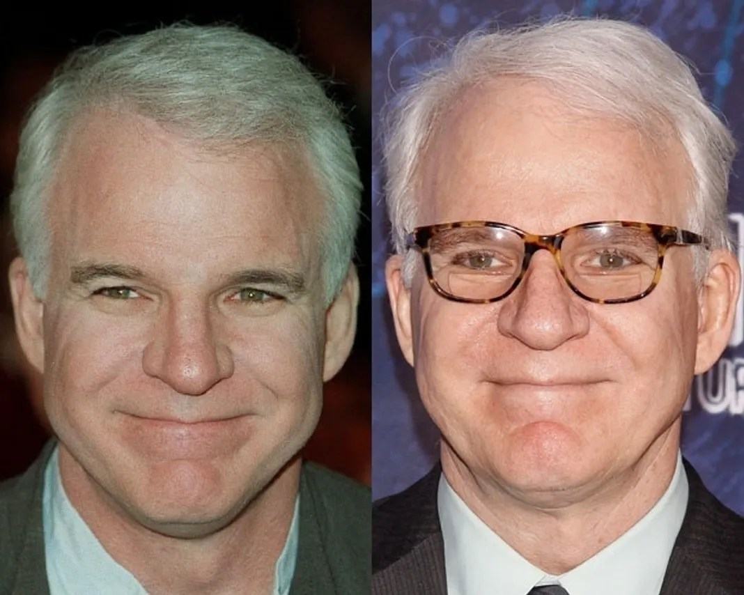 Image result for steve martin then and now