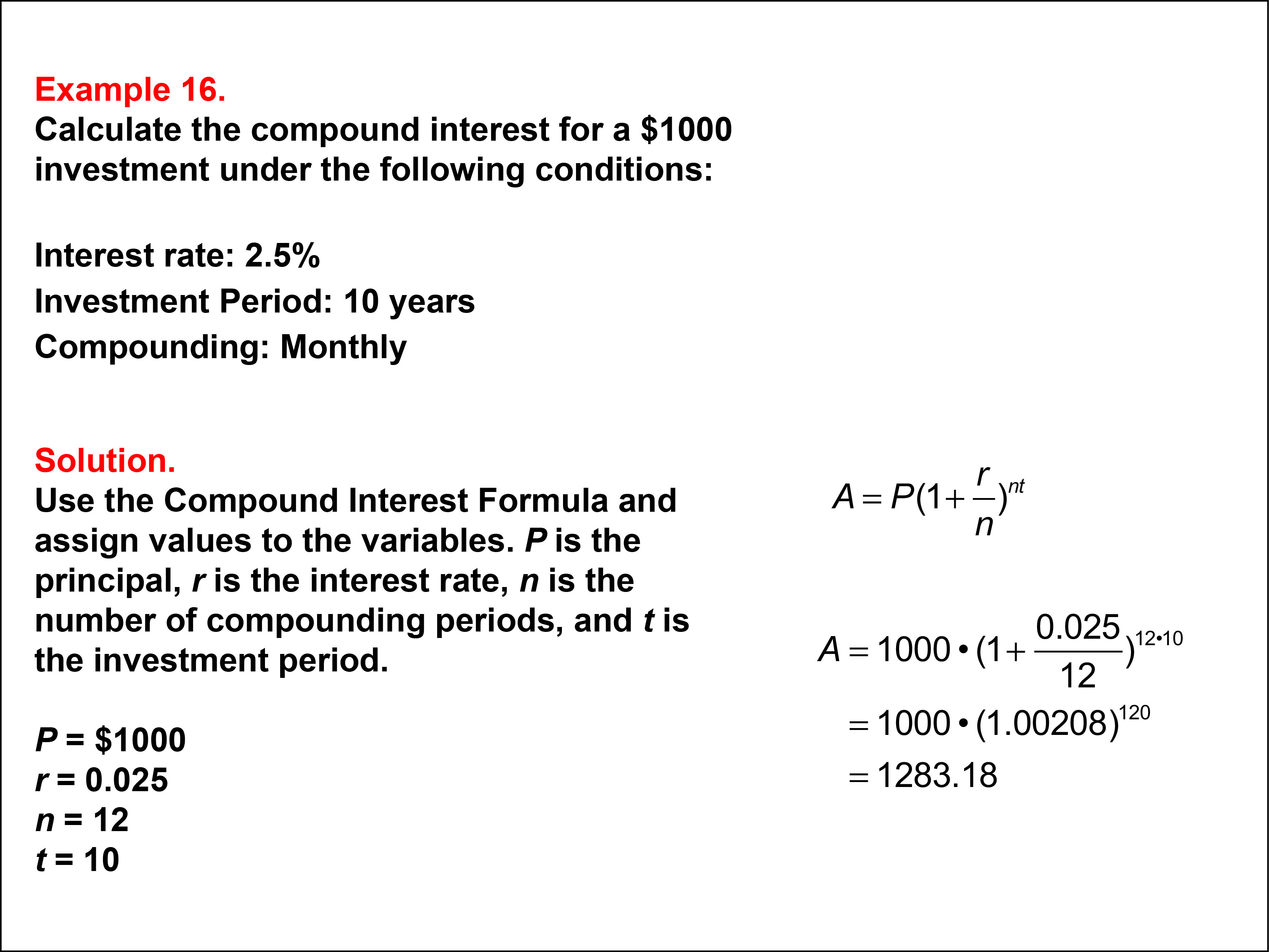 Math Example Compound Interest Example 16