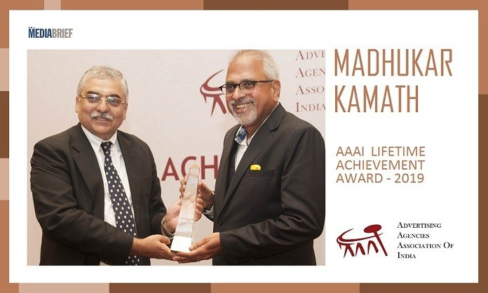 image-INPOST-Advertising great Madhukar Kamath Receives the AAAI Lifetime Achievement Award 2019 from Ashish Bhasin-MediaBrief