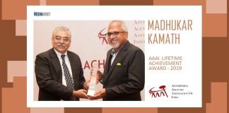image-MAIN-Advertising great Madhukar Kamath Receives the AAAI Lifetime Achievement Award 2019 from Ashish Bhasin-MediaBrief