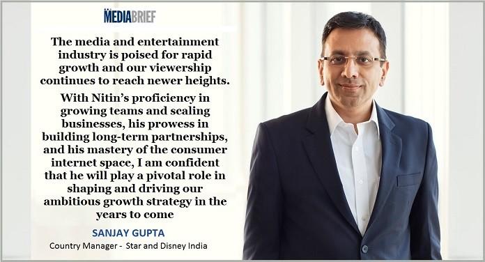 image-Sanjay Gupta on Nitin Bawankule - Ad Sales Head of Star India-MediaBrief