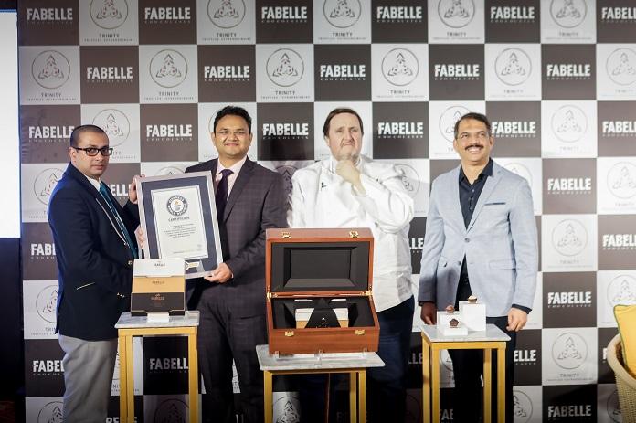 ITC Fabelle's Spokesperson, Anuj Rustagi receiving the Gunniess World Bo...