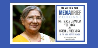 image-smt hansa ji jayadeva yogendra on mediabrief podcast The Masters Voice with Pavan R Chawla