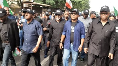 Photo of Uche Secondus, Peter Obi lead PDP supporters to protest in Abuja