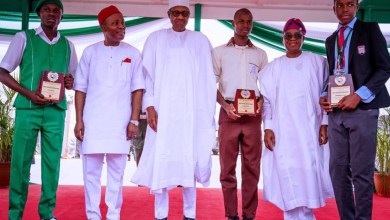 Photo of Buhari grants Scholarship upto PhD degree to three science students
