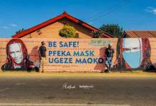 Photo of Harare suburbs painted with celebs faces to spread Covid-19 messages