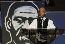 Photo of Rev Al Sharpton gives thought provoking eulogy at George Floyd funeral