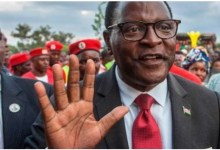 Photo of Malawi opposition leader Chakwera triumphant in historic election
