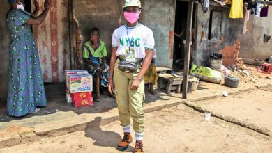 Photo of NYSC: Corp member donates palliatives for elderly women in Delta