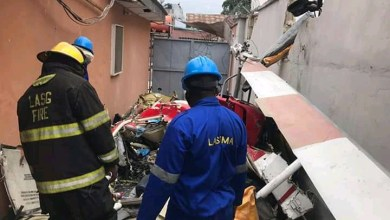 Photo of Photos: Helicopter Mishap In Lagos, 2 Died, 1 Injured