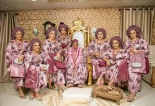 Photo of King Alaafin of Oyo Poses With His 7 Beautiful Wives.