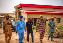Photo of Oyo Commissioner for Works and Transport Visits CVIS Projects