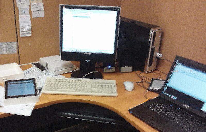 Que trouve-t-on sur le bureau numérique de l'écrivain ?