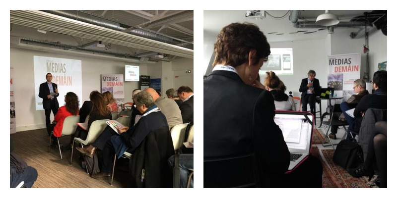 """La conférence #MediasDemain organisés à Paris par le """"fonds Google"""" pour la presse"""