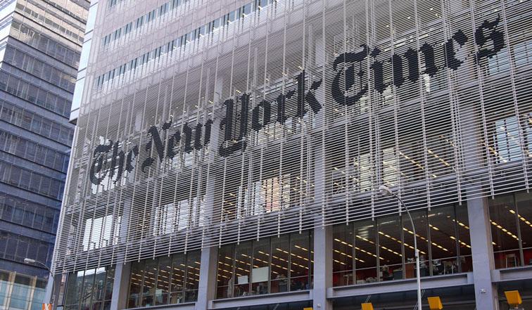 Batiments du New York Times au coeur de la grosse pomme. ©samchills en CC via Flickr.com
