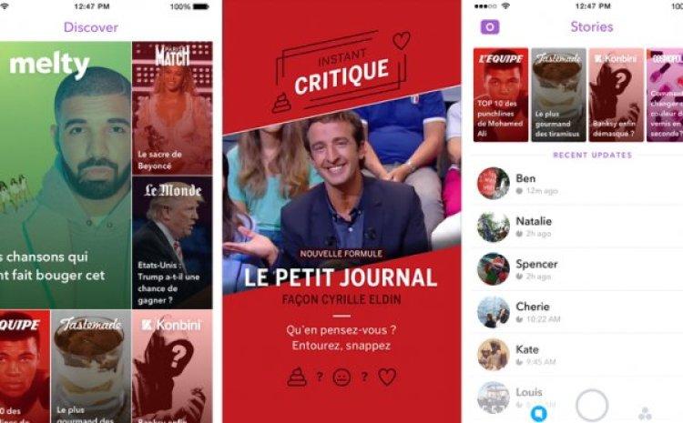 Premier bilan pour les médias français sur Snapchat Discover