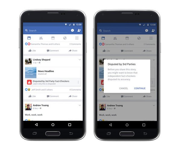 Outil Facebook contre les Fake news