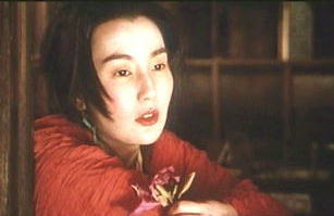 Maggie Cheung ponders in Ashes of Time