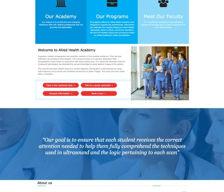 allied-health-academy-wordpress-website