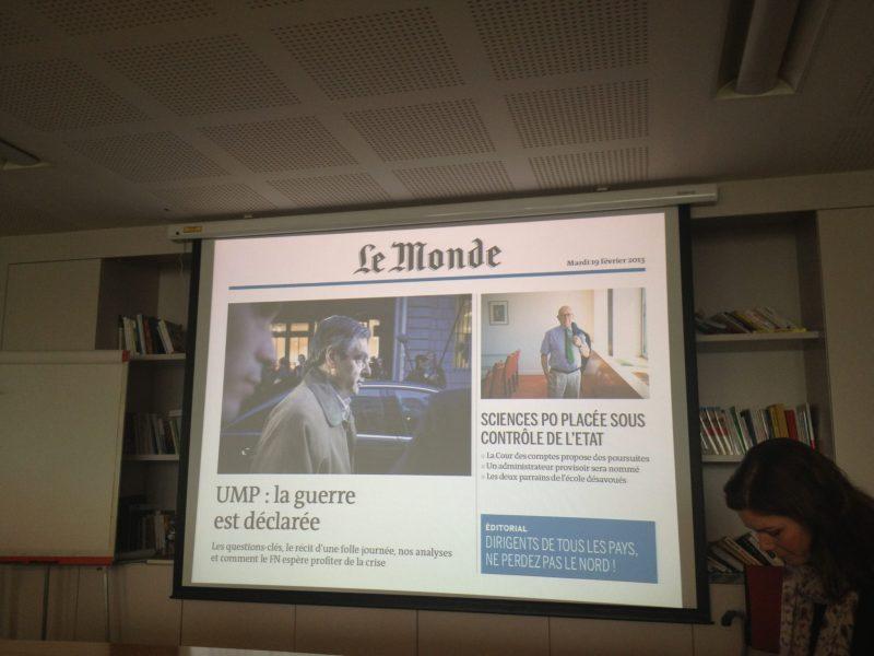 L'édition de type print ©Le Monde