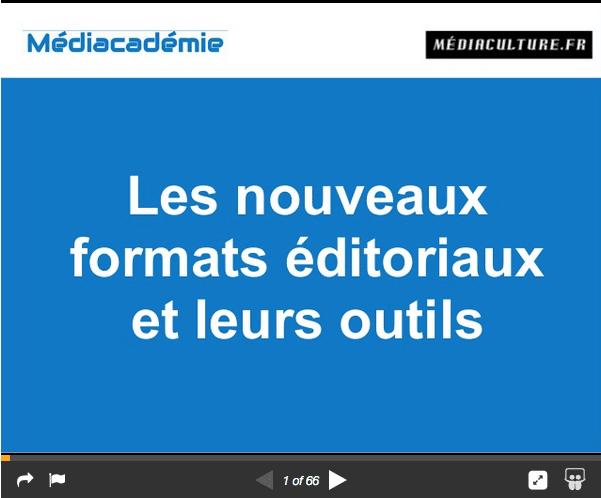 Les nouveaux formats éditoriaux et leurs outils