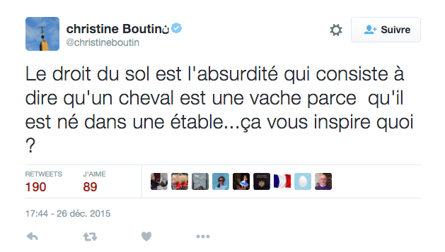 Christine Boutin - tweet droit du sol - mediaculture.fr