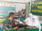 Antisipasi Covid-19 Personil TNI Lakukan Rapid Test di Samosir
