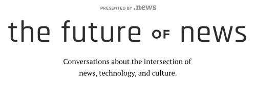 The Futureof.news site header.