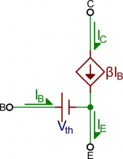 Mô hình transistor dẫn bảo hòa