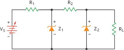 Mạch tiền ổn áp dùng diode zener