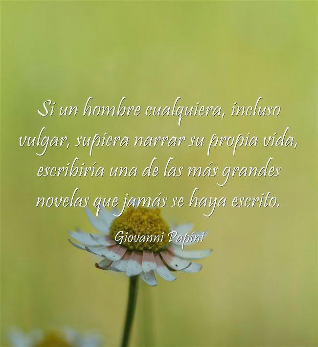 Frase del día(Giovanni Papini)