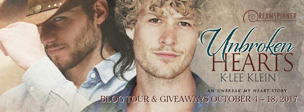 K-lee Klein - Unbroken Hearts blog tour banner