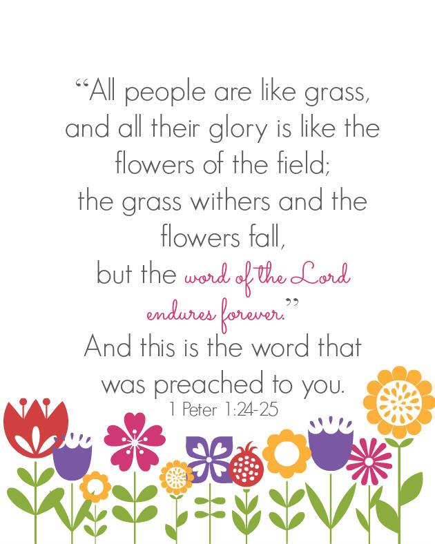 1 Peter 1:24-25 free printable
