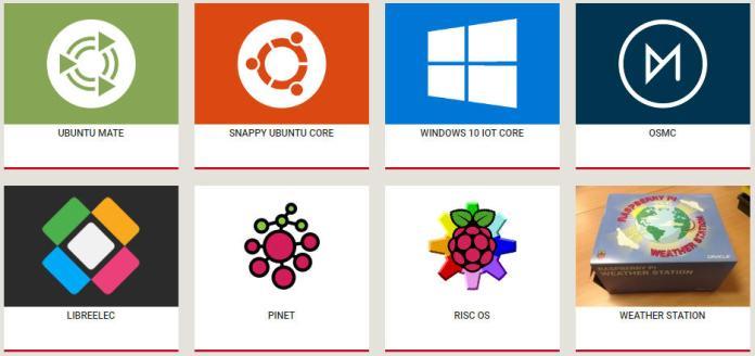 Các hệ điều hành hỗ trợ cho Raspberry Pi