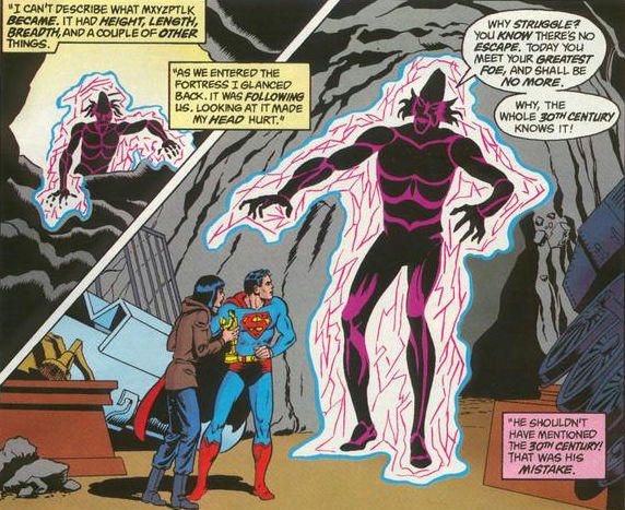 superman, duende, misglepic, mxyzptlk, enemigo, magia, forma real, original