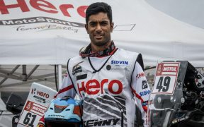 Hero MotoSports Team Rally rider CS Santosh
