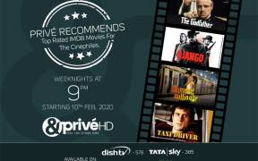 Catch the cinephile approved IMDB top scorers on &PrivéHD's new property, Privé Recommends