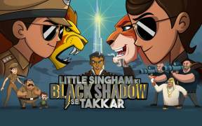 Black Shadow and Singham confronts each other in the movie