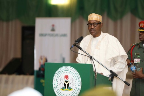 PRESIDENT BUHARI LAUNCHES ERGP LABS PROCESS. MAR 13 2018