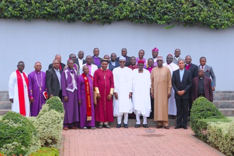 PRESIDENT BUHARI RECEIVES NORTHERN PASTOR'S FORUM AT THE STATE HOUSE. APRIL 5 2018