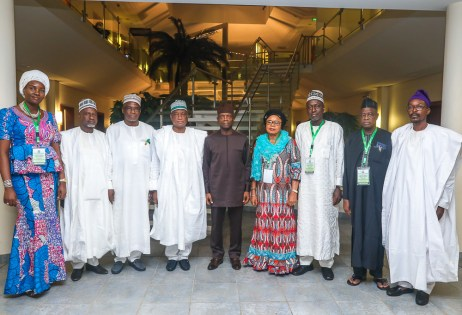 VP Osinbajo meets with delegations from National Boundaries Commission. 21st May 2018.
