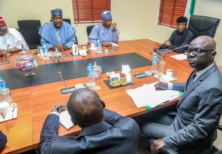 VP Osinbajo meets with members of the New PDP bloc in the APC today at Aguda House.