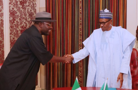 PRESIDENT BUHARI RECEIVES BAYLESA GOV DICKSON. MAY 24 2018