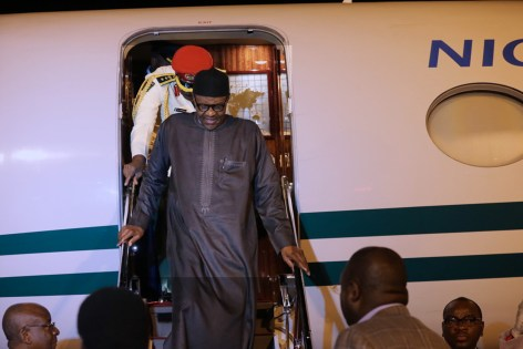 PRESIDENT BUHARI RETURNS TO ABUJA AFTER MEETING WITH PRES TRUMP. MAY 2 2018