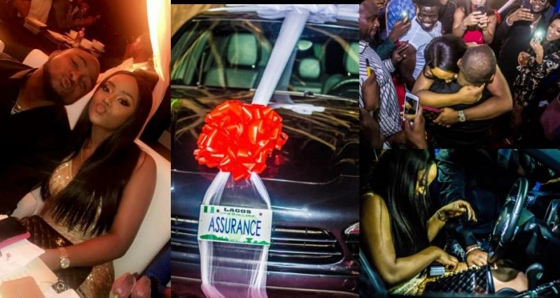 Don Jazzy, AY, others react to Davido's Porsche gift to girlfriend